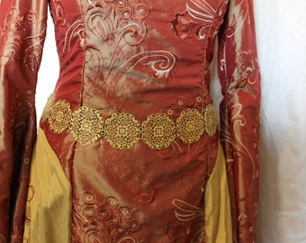 Metal Filigree Girdle Belt Medieval Tudor Renaissance Costume Game of Thrones