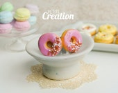 Donut Collection - Pink Donut with Sprinkles (Stud Earrings)