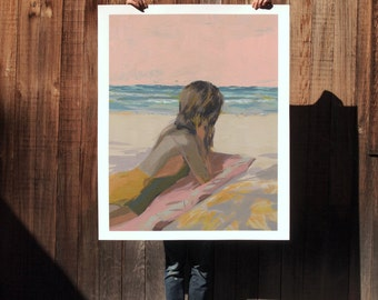 Days End .  extra large wall art . giclee print