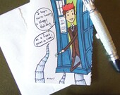 Doctor Who Christmas Card - Fixed Point in Time - Tenth Doctor - David Tennant - TARDIS