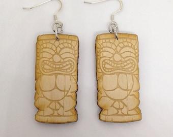 Tiki Man Earrings