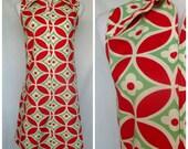 1960s Gilead House Dress, Cotton, Pop Art, Geometric Print