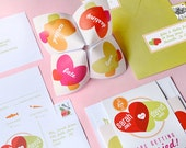 Cootie Catcher Invitation Suite - SAMPLE ONLY (Price is not full order per unit price, see description)