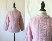 Vintage Mohair Boxy Chunky Knit Sweater