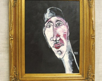 Male Sports Portrait, Swimmer, Portraiture Painting, Wil Shepherd Studio, Original Fine Art, Athletes, Framed, Masculine, Hand Painted
