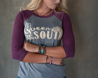Queen of the South baseball 3/4 length tee