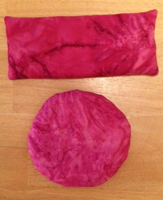 Loving Yourself Gemstone Eye or Chakra Pillow---Pink Opal