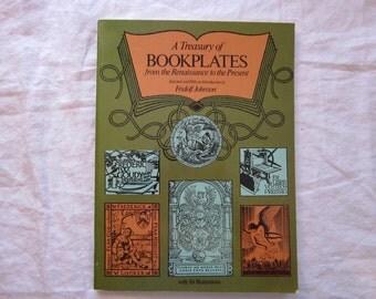 vintage book - Dover - A Treasury of BOOKPLATES, Fridolph Johnson - circa 1977