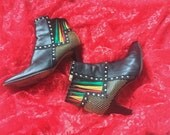 90s Ankle Boots Italian Leather 37.5  7