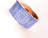 Jewelry Fitbit Alta Bracelet Flex Cuff Fitbit ChargeHR Blue White Victorian Tile Vivofit 3 Misfit Shine Wearable Technology Circles Squares