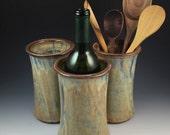 Wine Cooler, Wine Chiller- Stoneware with Textured Rim, Hostess Gift, Wine Gift, Wine Bottle Holder