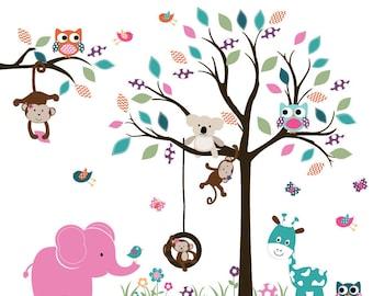Vinyl Wall Decal  Wall Decals Nursery - Nursery wall decal -Tree decal -Children Wall decal -Nursery Tree Vinyl Decal