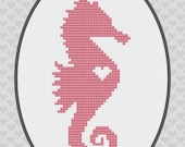 Seahorse Silhouette Cross Stitch Pattern