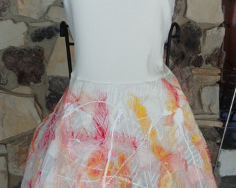 Hand Painted Halter Fit-and-Flare Dress