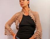 Crochet Shrug, Lace Bolero, Crochet Bolero, Bridal Shrug Bolero Shawl, Sweater Shrug Linen&Cotton Summer Shrug Wedding Bolero Cover Up S/M/L
