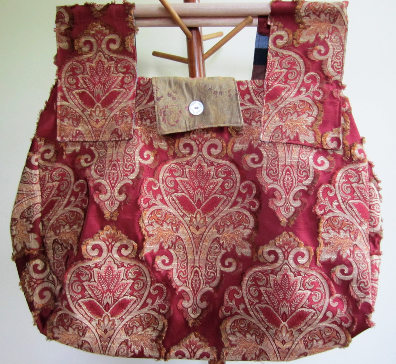 Carpet Bag Tote Civil War Reenactor Victorian Steampunk