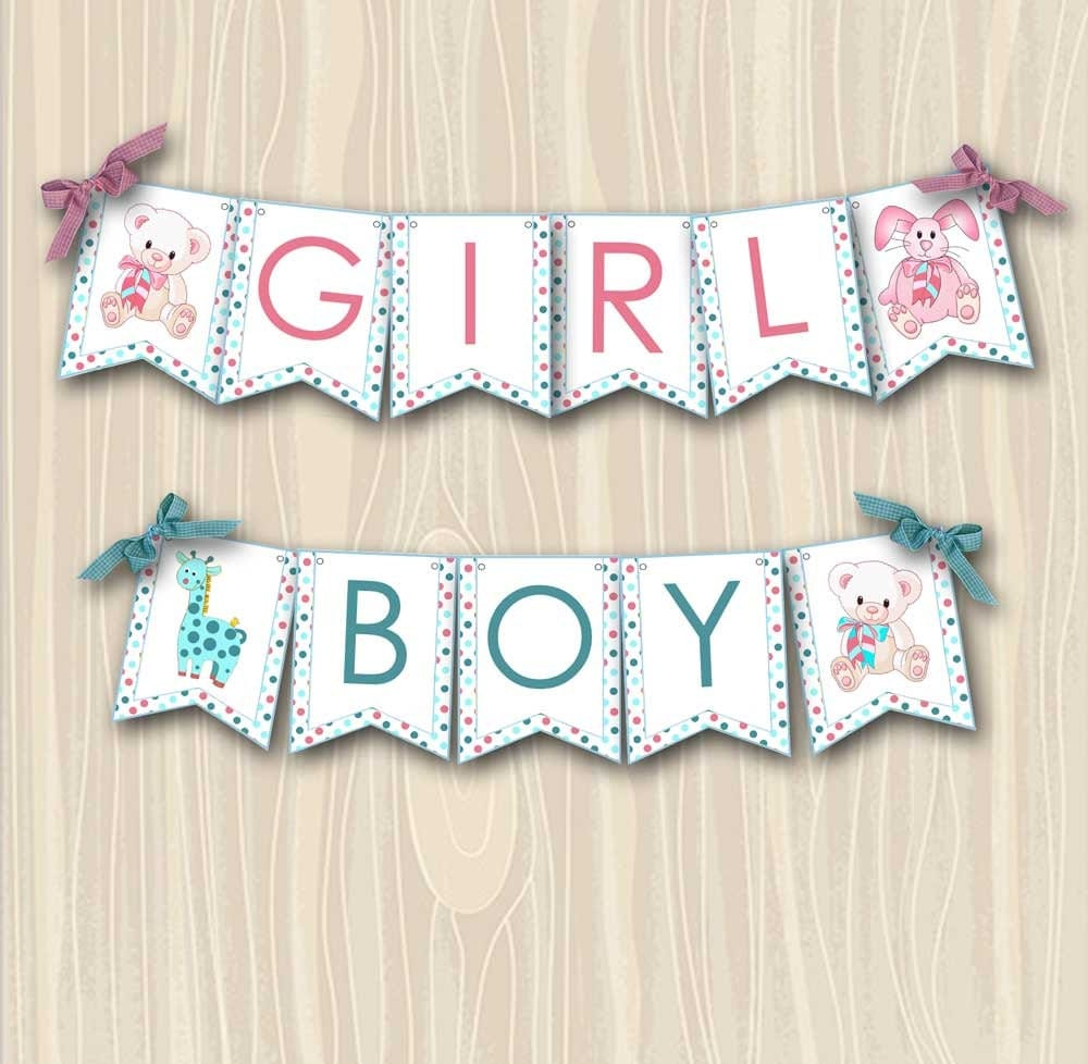 Baby Shower Custom Banners: Baby Shower Banner DIY Custom Party Printable Boy Or Girl
