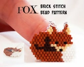 Fox  - Beading PATTERN, Beaded Animals, Delica Beads Brick Stitch