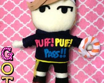 "KPop GOT7 MARK plushie plush toy doll ""Just Right"" MV Version"