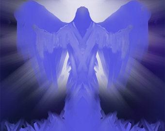 Angel # 462 -Digital Download  Print yourself JPEG File - Angels  Archangels Guardian Angel