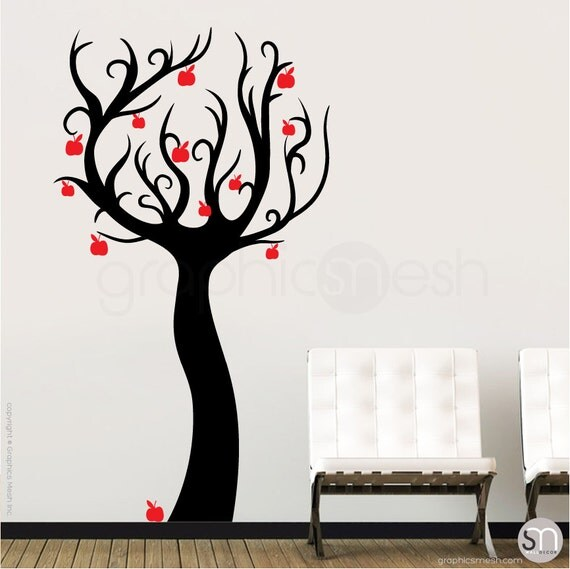 wall decals enchanted apple tree vinyl stickers surface mini apple chalkboard wall sticker by spin collective