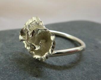 Rose ring: Handmade sterling silver