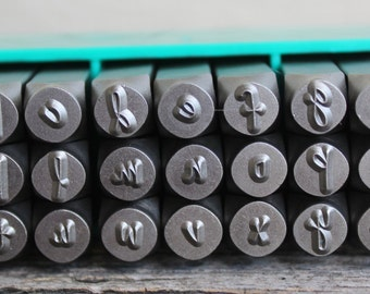 SALE-Jenna Sue Font Metal Stamp Set- 6mm (1/4)LARGE - Lowercase-Metal Supply Chick-Steel Stamps for Metal