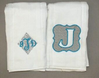 Personalized baby boy burp cloths monogrammed baby boy burp cloths letter burp cloth custom baby boy burp cloth