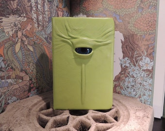 Mythical Beast Book (Lime Green leather with Blue eye)