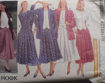 J. G. Hook Sewing Pattern - Misses/Misses Petite Jacket, Top, Skirt and Culottes - Butterick 4564 - Size 12, Bust 34