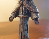 St Peregrine, Patron of Cancer Patients and Those Cured, Palm-Size Handmade Pewter Statue