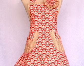 Women's Apron,Flared Skirt, Retro Mod Design, Apron