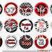 "1"" Bottle Cap Image Sheet - Razorbacks"