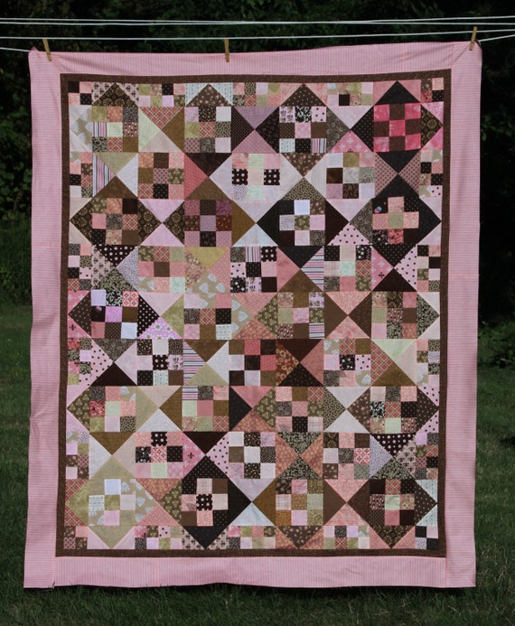 Window Pane 9 Patch Quilt Tutorial - YouTube