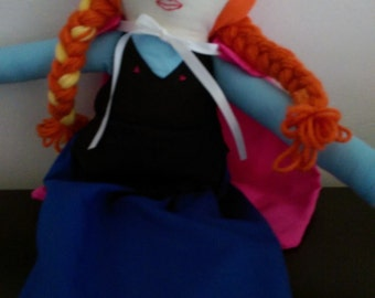 Handmade Doll Inspired by Disney's Anna