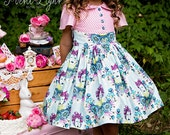 Alyss Party Dress by Ainslee Fox Boutique Sewing Patterns ( intermediate - back zip - girl size 1-12 / advanced - side zip - size 4-12 )