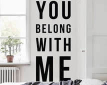 Unique You Belong With Me Related Items Etsy
