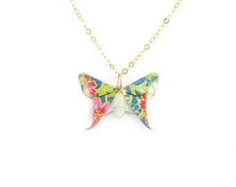 Origami Butterfly Necklace ~ Flutters in the Sky