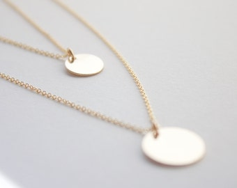 Layered necklaces, gold necklace - set of layered 14k gold filled, layered necklace, modern, simple necklace, everyday, wedding gift, bridal