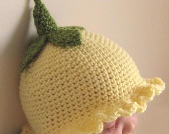 Crochet Pattern for Flower Fairy Primrose Hat in 4 sizes - INSTANT DOWNLOAD .pdf