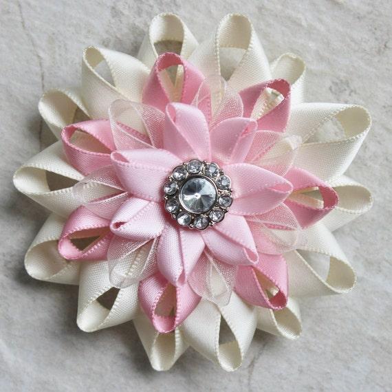 Items Similar To Pink Pin, Pink Flower Pin, Pink Dress Pin