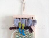 Morning Dew - Small Mixed Media Weaving Art