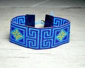 Maze Bead Loom Bracelet, Beadwork Bracelet, Bead Woven Bracelet, Adjustable Bracelet