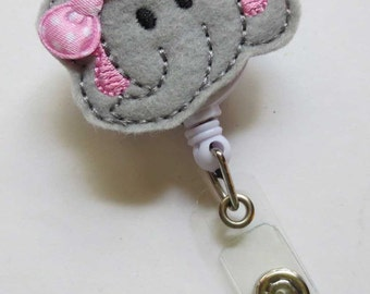 Elephant Badge Reel - Retractable Badge Reel - Nurse ID Holder, Animal Badge Reel - ID Badge Reel