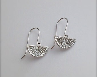 Little Japanese Fan Sterling Silver Earrings