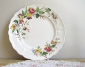 Vintage Grindley Rosalind Plate / Marlborough Royal Petal England / Shabby Cottage Chic / Mix & Match / Wedding Home Decor Wall Decor