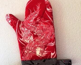 Dragon and Ninja Oven Mitt!
