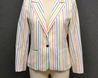 1980s Sagamore Way Striped Jacket
