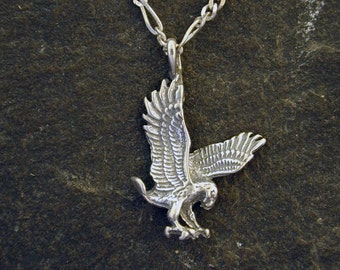 Sterling Silver Eagle Pendant on Sterling Silver Chain.