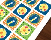 Science Party Birthday DIGITAL 2in Circles, Cupcake Toppers, Stickers, Tags